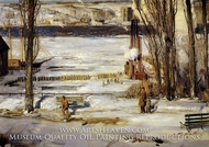 A Morning Snow, Hudson River by George Bellows