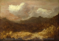 A Mountainous Landscape painting reproduction, Hercules Segers