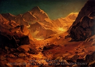 A Mountainous Landscape painting reproduction, Oswald Achenbach