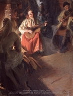 A Musical Family painting reproduction, Anders Zorn