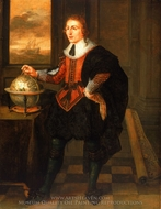 A Navigator with Globe and Dividers painting reproduction, Hendrick Van Der Borcht