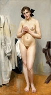 A Nude Standing painting reproduction, Anders Zorn