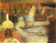 A Nude Woman Washing painting reproduction, Edgar Degas