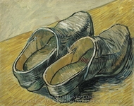 A Pair of Leather Clogs painting reproduction, Vincent Van Gogh