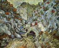 A Path through a Ravine by Vincent Van Gogh