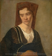 A Peasant Woman painting reproduction, Jean-Baptiste Camille Corot