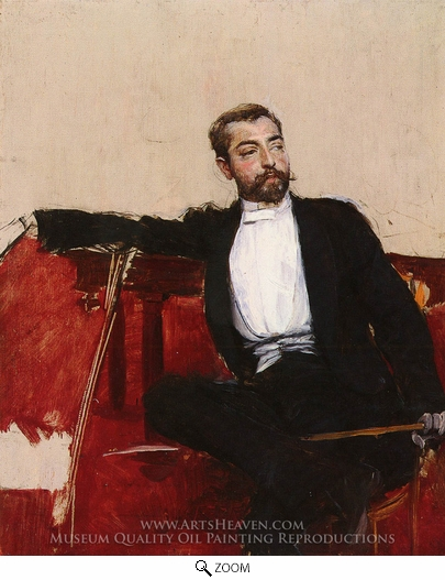 Giovanni Boldini, A Portrait of John Singer Sargent oil painting reproduction