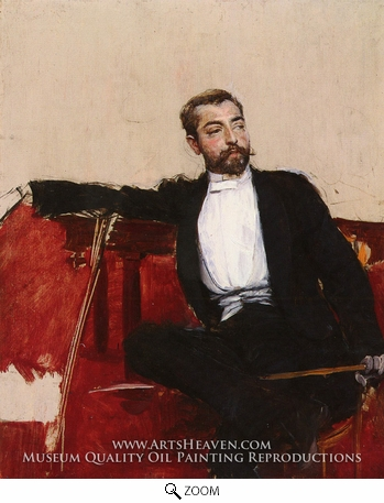 Painting Reproduction of A Portrait of John Singer Sargent, Giovanni Boldini