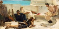 A Reading from Homer painting reproduction, Sir Lawrence Alma-Tadema