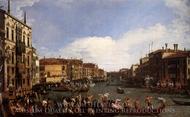 A Regatta on the Grand Canal painting reproduction, Canaletto