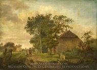 A Road by a Cottage painting reproduction, Jan Cornelis Haccou