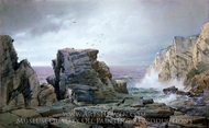A Rocky Coast painting reproduction, William Trost Richards