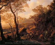 A Rocky Italian Landscape painting reproduction, Jan Both