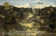 A Rocky Landscape by Theodore Rousseau
