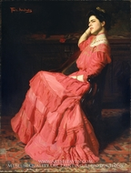 A Rose painting reproduction, Thomas Pollock Anschutz