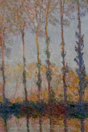 A Row of Poplars painting reproduction, Claude Monet