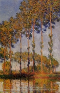 A Row of Poplars by Claude Monet
