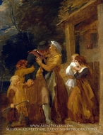 A Sailor Returns in Peace painting reproduction, Thomas Stothard