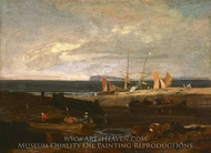 A Scene on the English Coast painting reproduction, Joseph Mallord William Turner