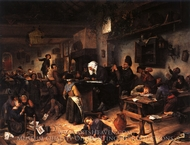 A School for Boys and Girls painting reproduction, Jan Steen