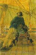 A Seaman of the Pallas Leaning on a Bowchaser painting reproduction, Gabriel Bray