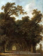 A Shaded Avenue by Jean-Honore Fragonard