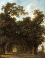 A Shaded Avenue painting reproduction, Jean-Honore Fragonard