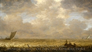 A Shallow Sea with Fishing Boats painting reproduction, Pieter Mulier, The Elder