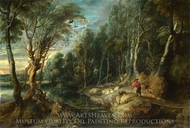 A Shepherd with his Flock in a Woody Landscape painting reproduction, Peter Paul Rubens