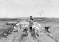 A Shepherdess and Her Flock painting reproduction, Anton Mauve