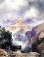 A Showrey Day, Grand Canyon by Thomas Moran