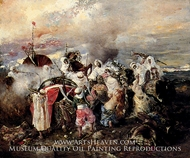 A Skirmish painting reproduction, Sigriste Guido