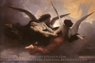 A Soul Brought to Heaven painting reproduction, William Adolphe Bouguereau