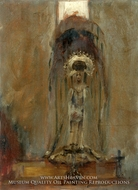A Spanish Madonna painting reproduction, John Singer Sargent