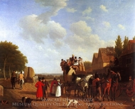A Street painting reproduction, Jacques Laurent Agasse