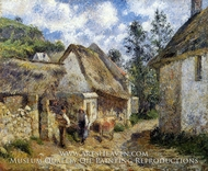 A Street in Auvers by Camille Pissarro