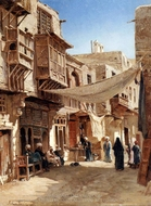 A Street In Boulaq Near Cairo painting reproduction, John Varley