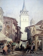 A Street In Istanbul painting reproduction, Amedeo Preziosi