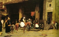 A Street Scene in Cairo painting reproduction, Jean-Leon Gerome