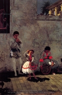 A Street Scene in Seville painting reproduction, Thomas Eakins