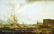 A Third-Rate Entering Port Mahon painting reproduction, Charles Martin Powell