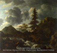 A Torrent in a Mountainous Landscape by Jacob Van Ruisdael