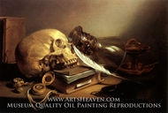 A Vanitas Still Life painting reproduction, Pieter Claesz