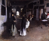 A Venetian Interior painting reproduction, John Singer Sargent