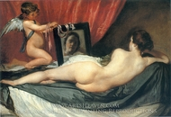 A Venus at Her Mirror painting reproduction, Diego Velazquez