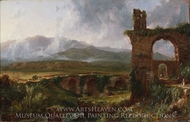 A View near Tivoli (Morning) painting reproduction, Thomas Cole