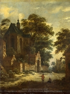A View of a Village painting reproduction, Roelof Van Vries