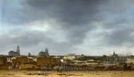 A View of Delft after the Explosion of 1654 painting reproduction, Egbert Van Der Poel