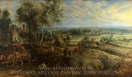 A View of Het Steen in the Early Morning painting reproduction, Peter Paul Rubens