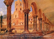 A View of Monreale Above Palermo painting reproduction, Rudolf Alt